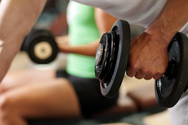 dumbbell training, NIFS, fitness center