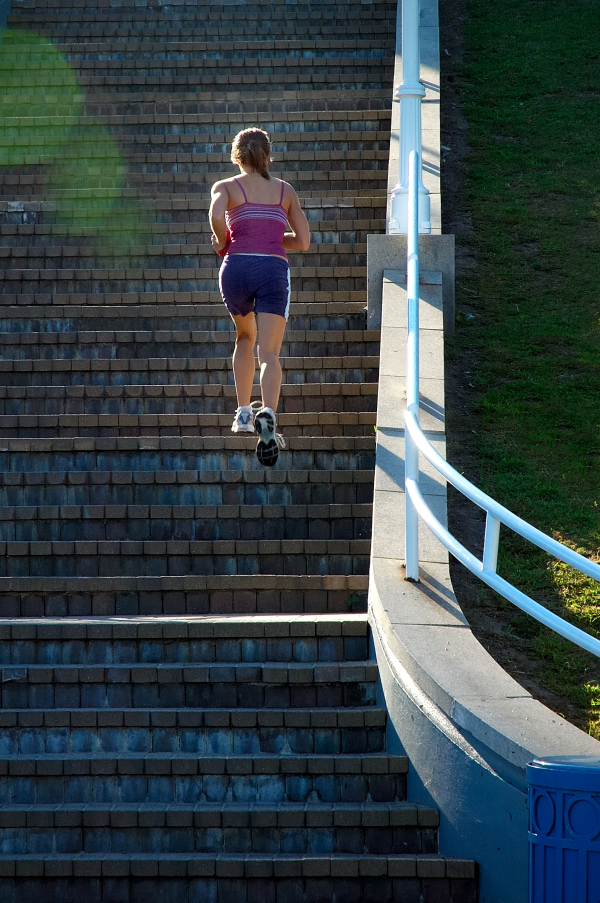 take the stairs, exercise, corporate wellness