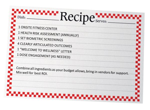 corporate wellness recipe