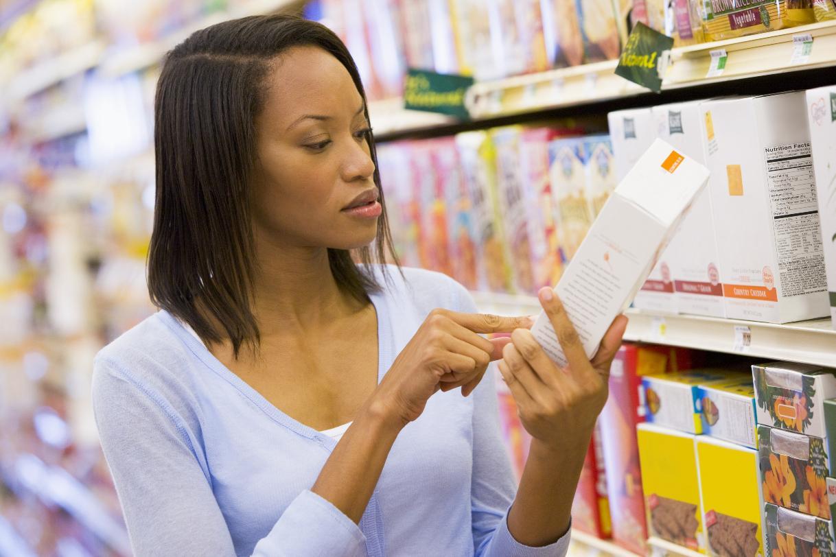 Woman Reading Food Label