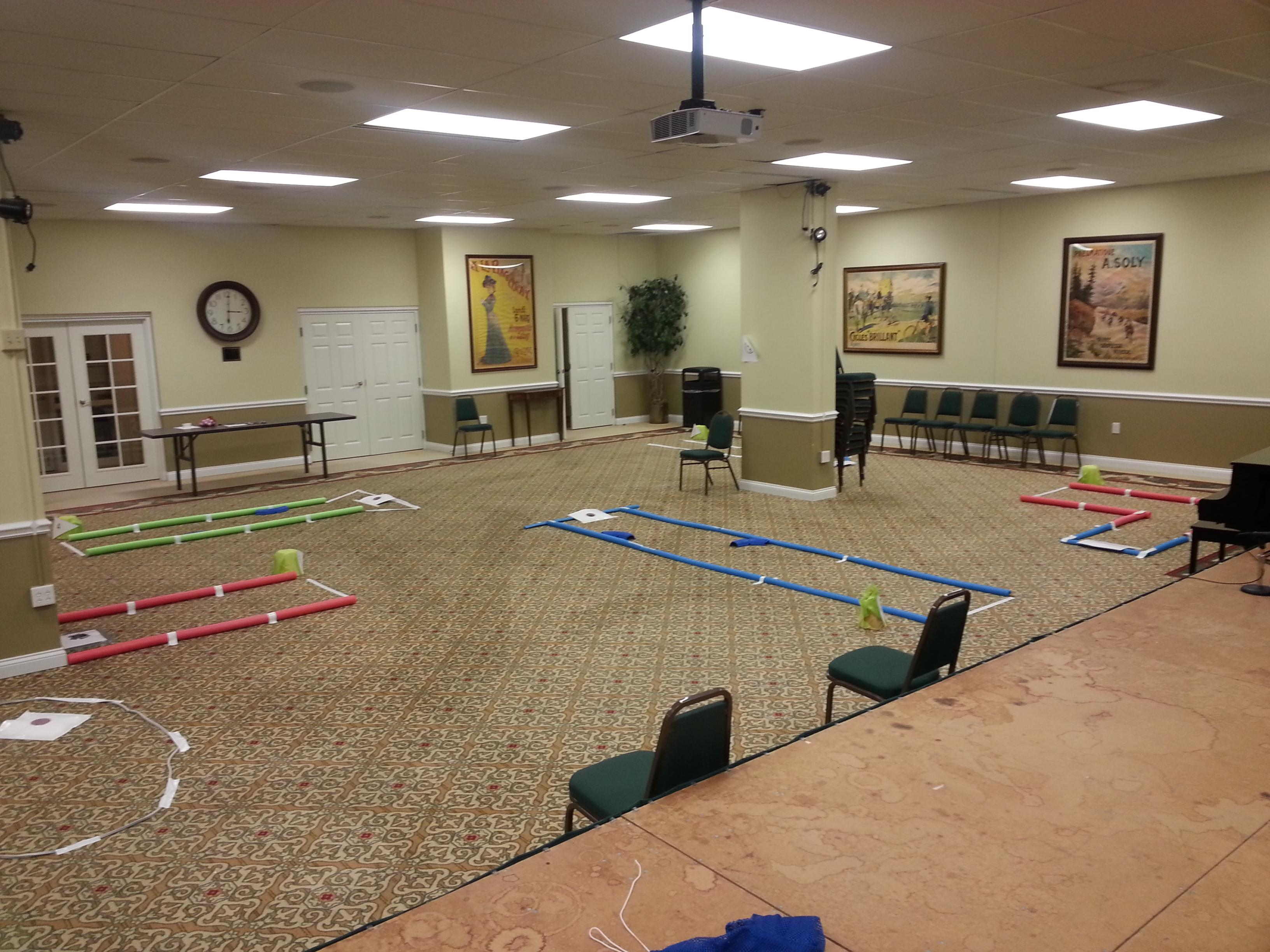 senior living indoor putting course