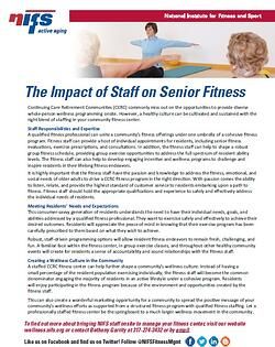 NIFS | Impact of Staff in Senior Living Fitness