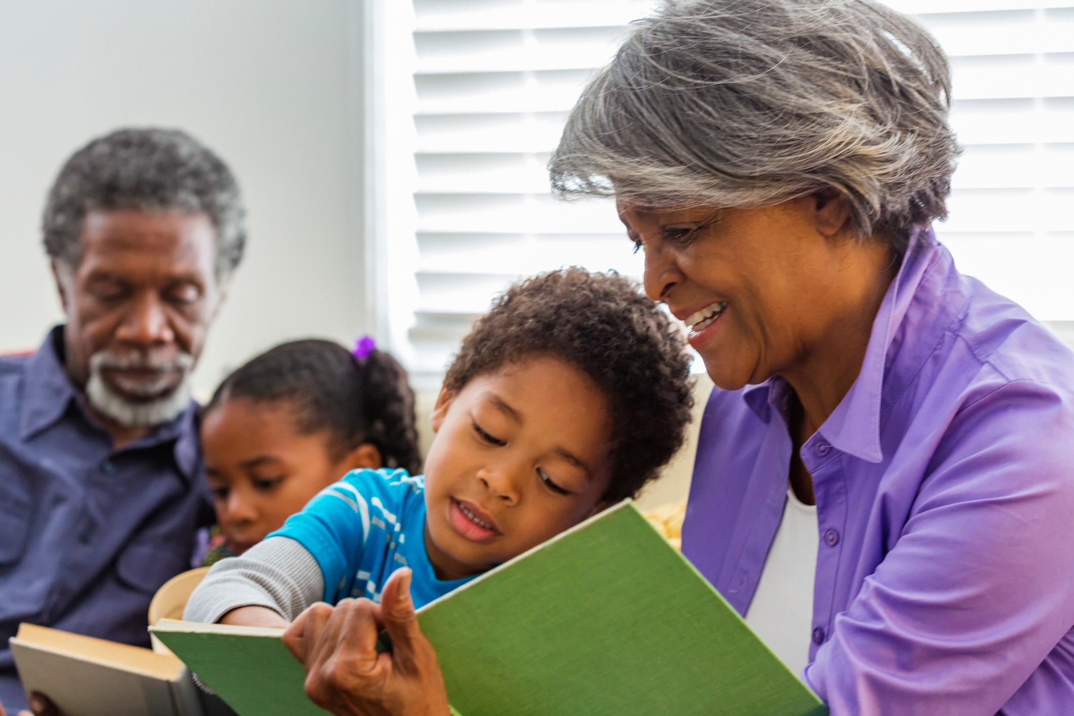 NIFS   Grandmother reading to grandchild