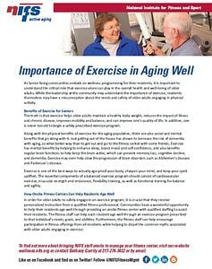 NIFS | Importance of Exercise in Aging Well