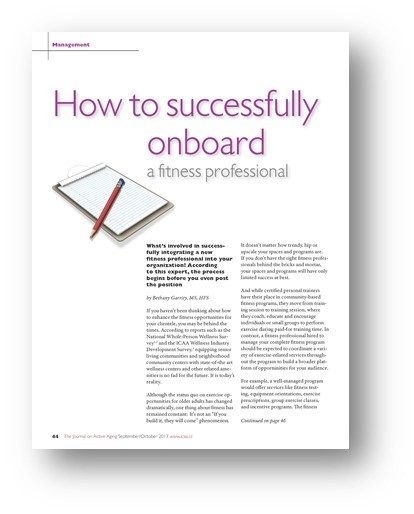 NIFS | How to onboard a fitness professional