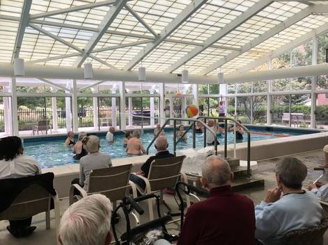 NIFS | Seniors playing water volleyball